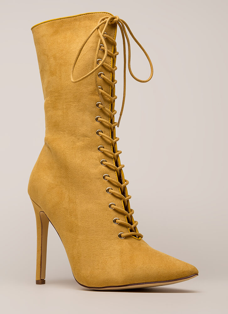 See Your Point Faux Suede Boots CAMEL