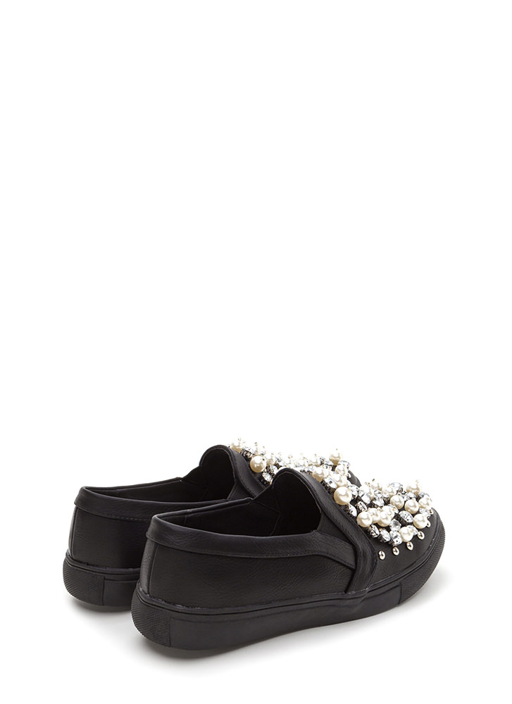 Treasure Chest Faux Leather Sneakers BLACK (Final Sale)