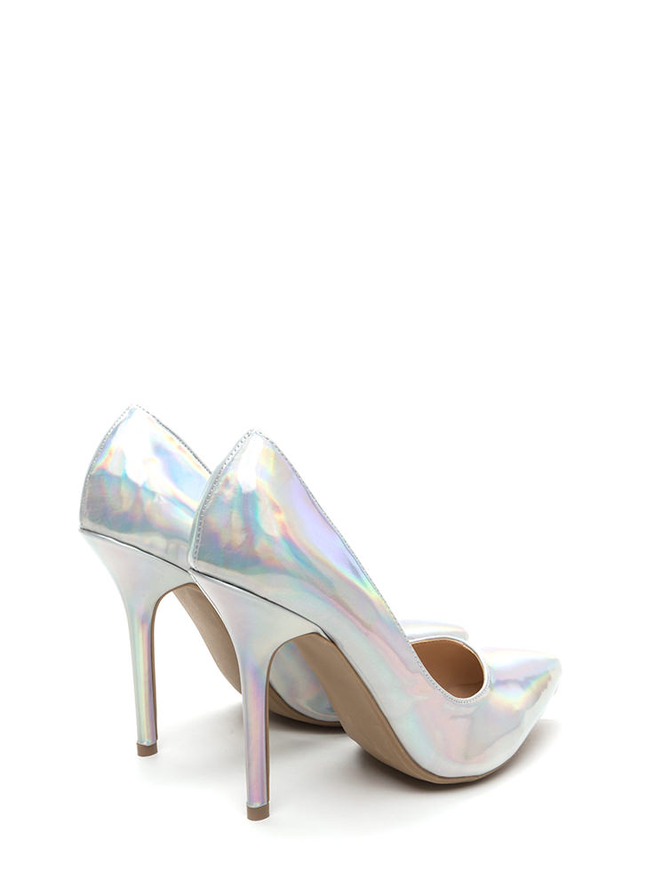Make A Point Holographic Pumps SILVER