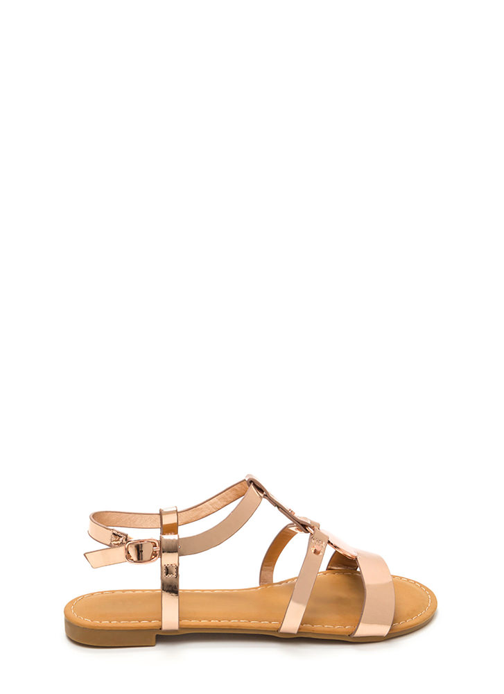 Circle Of Friends Metallic Sandals ROSEGOLD