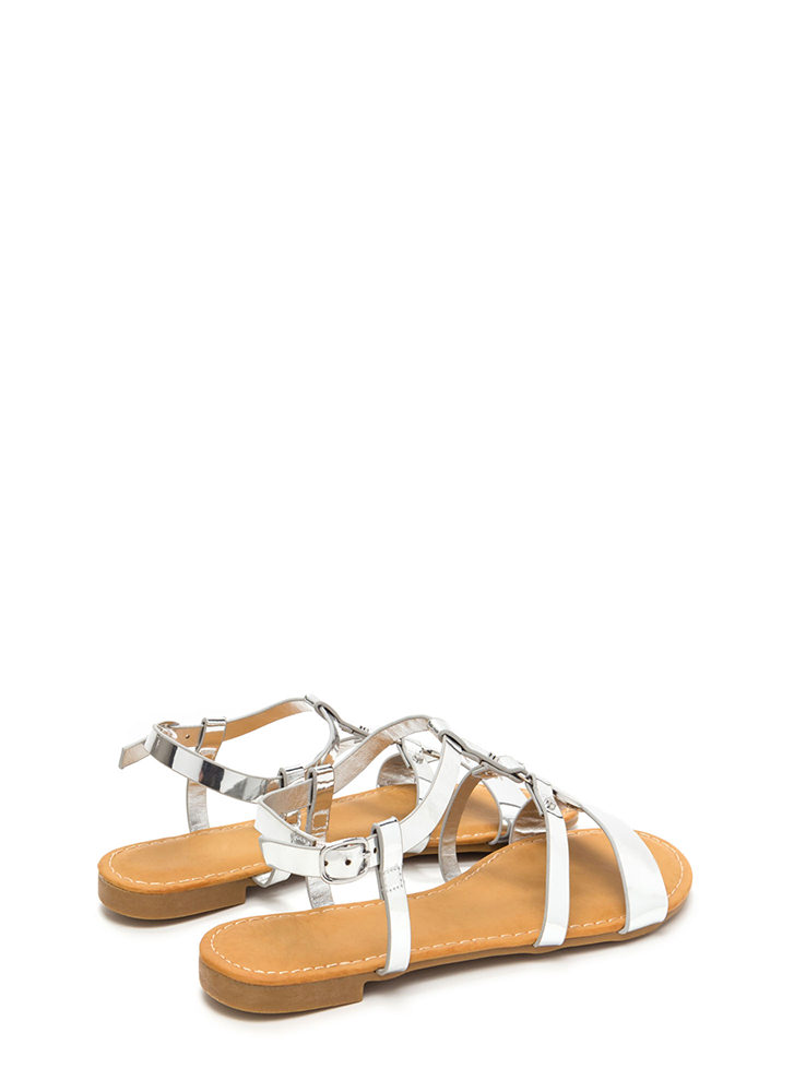 Circle Of Friends Metallic Sandals SILVER