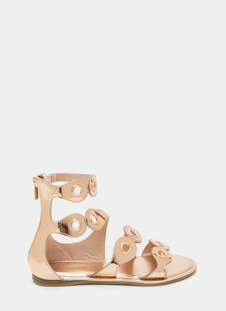 Warrior In Training Metallic Sandals ROSEGOLD