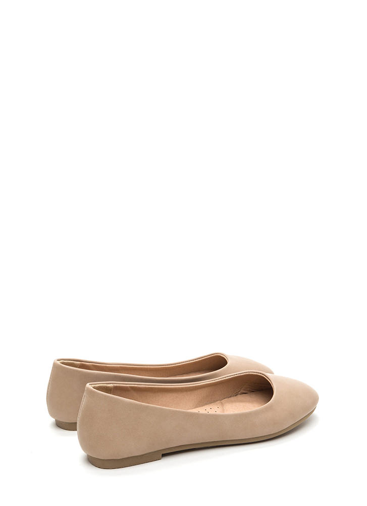 Daily Pick Faux Leather Ballet Flats NATURAL
