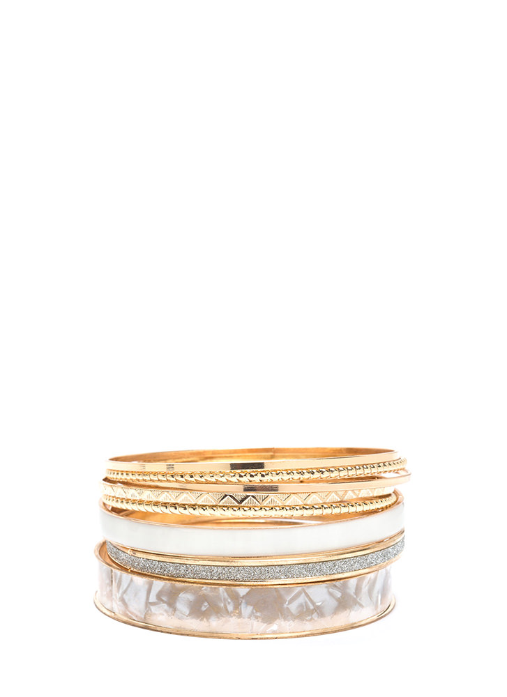 Eight Days A Week Chic Bangle Set GOLD