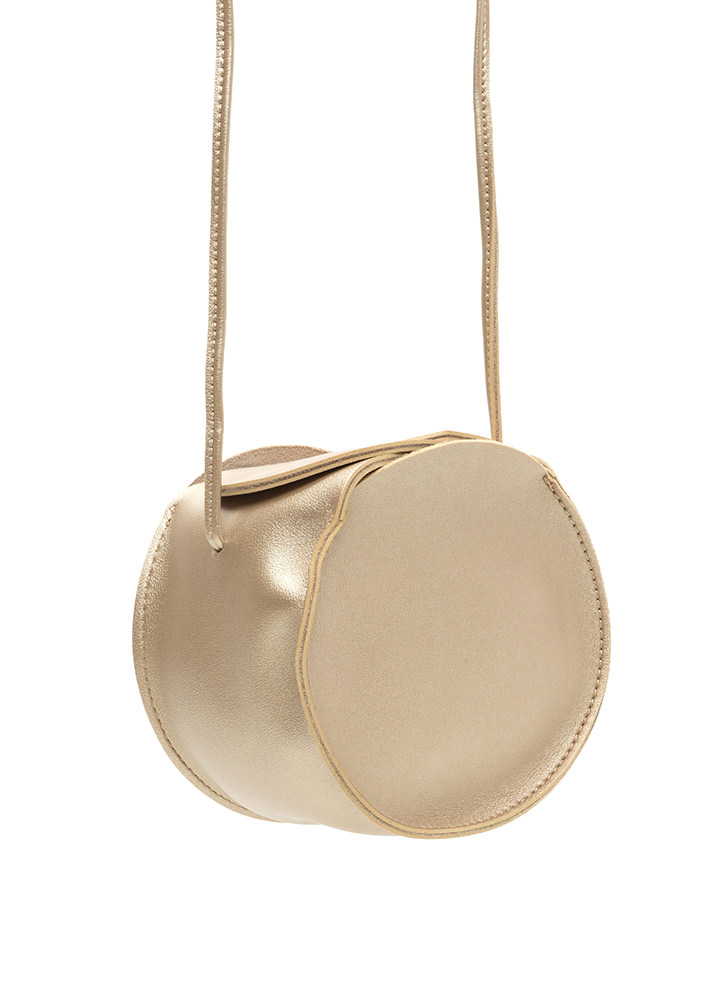 Circle Of Life Faux Leather Bag GOLD (Final Sale)