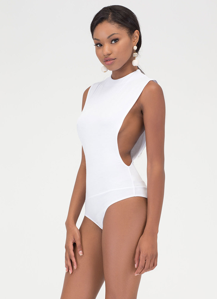 Side To Side Deep-Cut Bodysuit WHITE (You Saved $14)