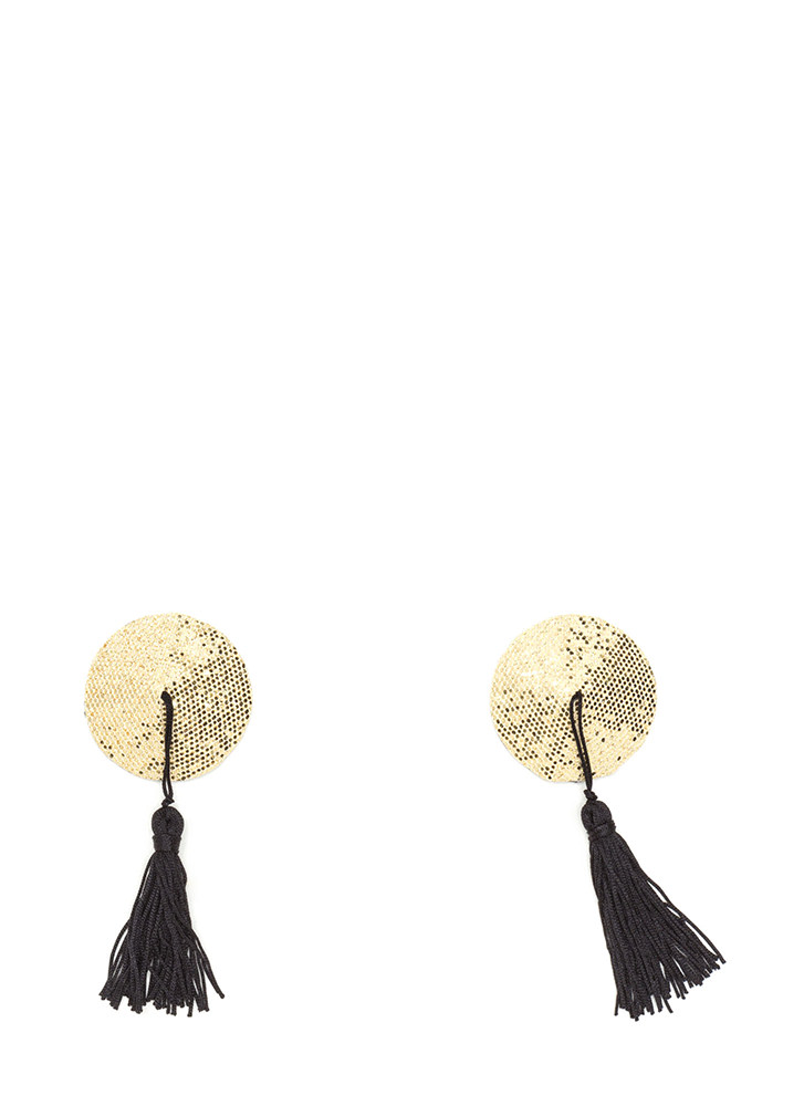 Tassel With You Glittery Pasties GOLD (Final Sale)