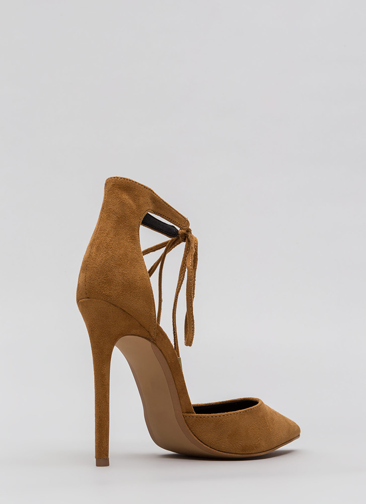 Point In The Right Lace-Up Heels CHESTNUT
