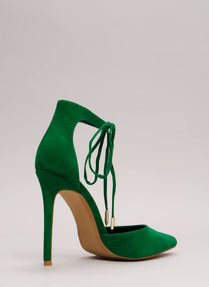 Point In The Right Lace-Up Heels JADE