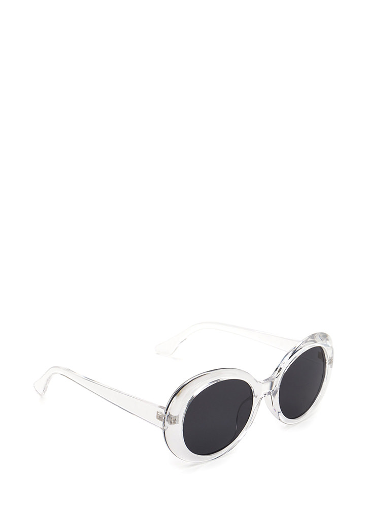 Clear As Day Retro Oval Sunglasses CLEAR