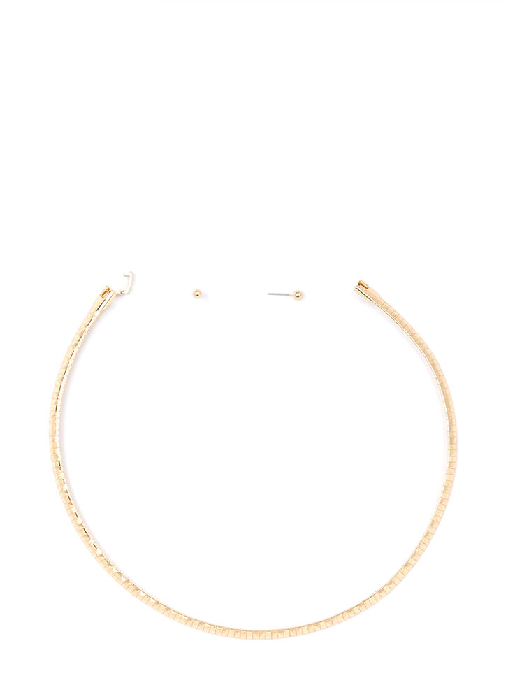 Get Ziggy With It Chain Choker GOLD