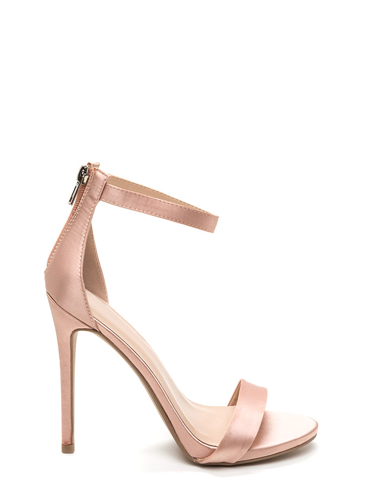 Simply Stunning Satin Ankle Strap Heels LTMAUVE