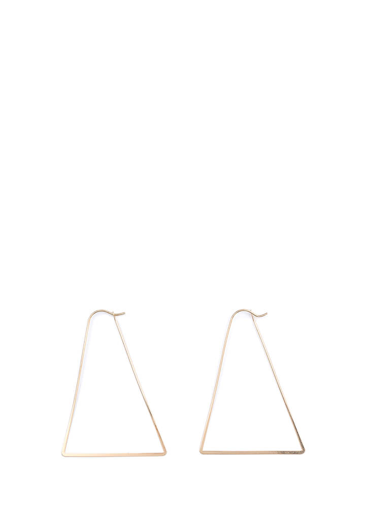 Modern Chic Triangle Earrings GOLD
