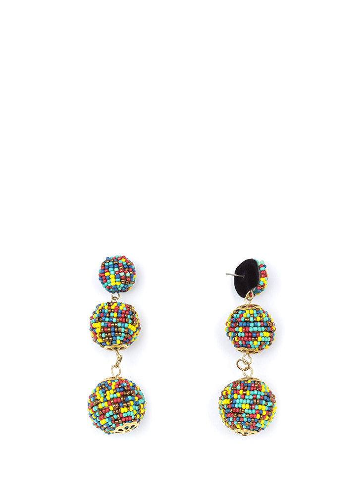 Bead You To It Ball Earrings MULTI