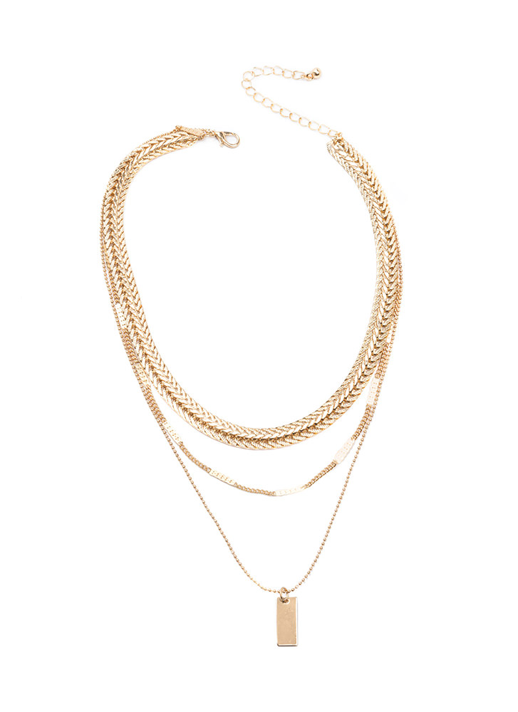 Chain Gang Layered Necklace GOLD