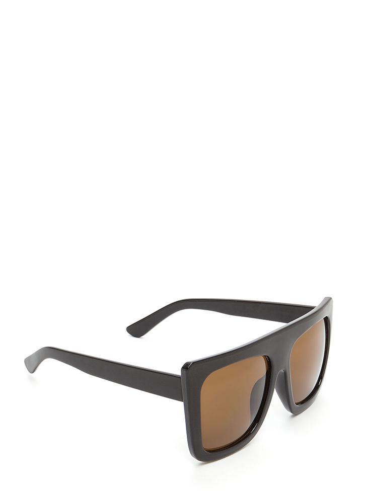 Style Maven Thick Sunglasses BROWN