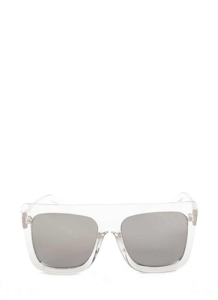 Style Maven Thick Sunglasses CLEARSILVER