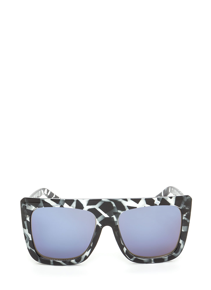 Style Maven Thick Sunglasses GREYBLUE