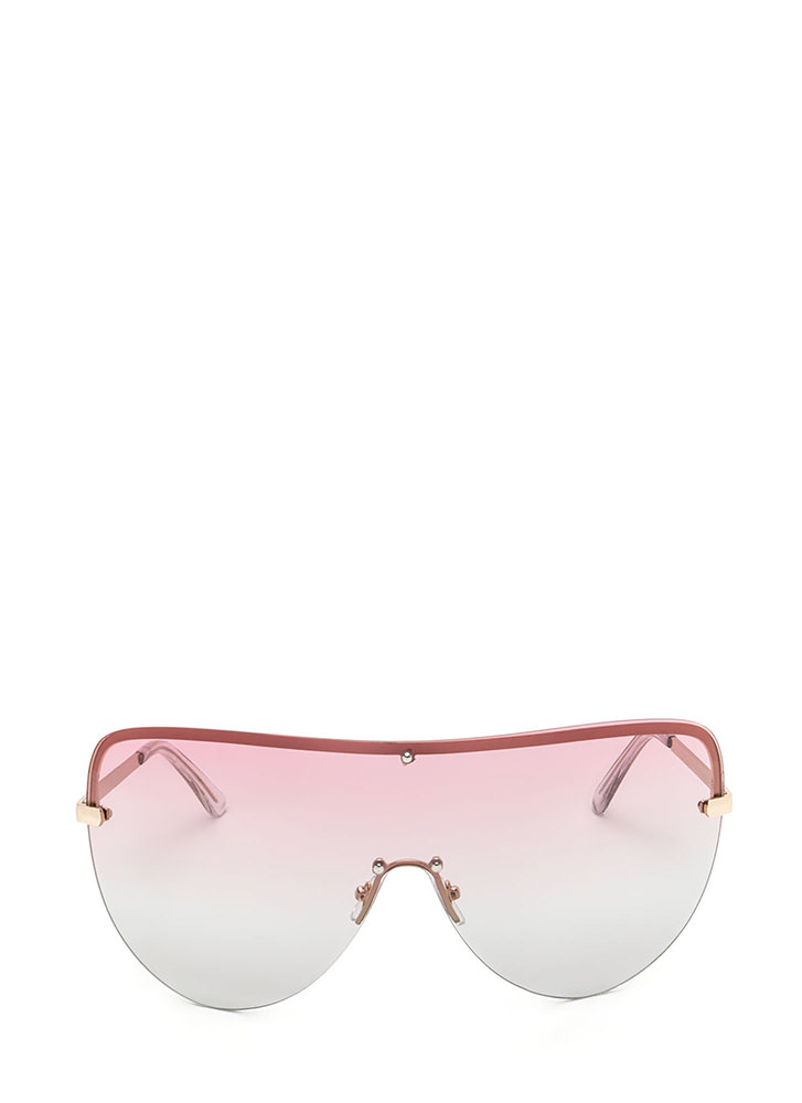 Make The Gradient Shield Sunglasses PINK