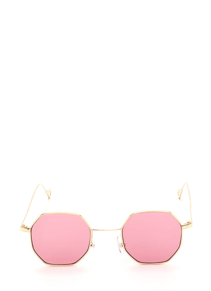 Throwback Cool Tinted Sunglasses PINK