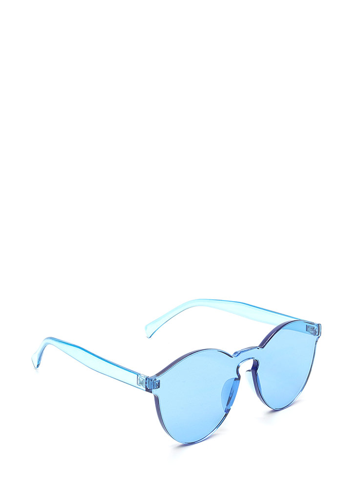 All Together Now Frameless Sunglasses BLUE