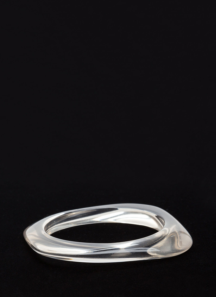 Clear Intentions Square Bangle CLEAR