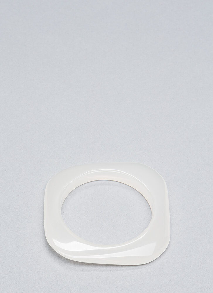 Clear Intentions Square Bangle WHITE