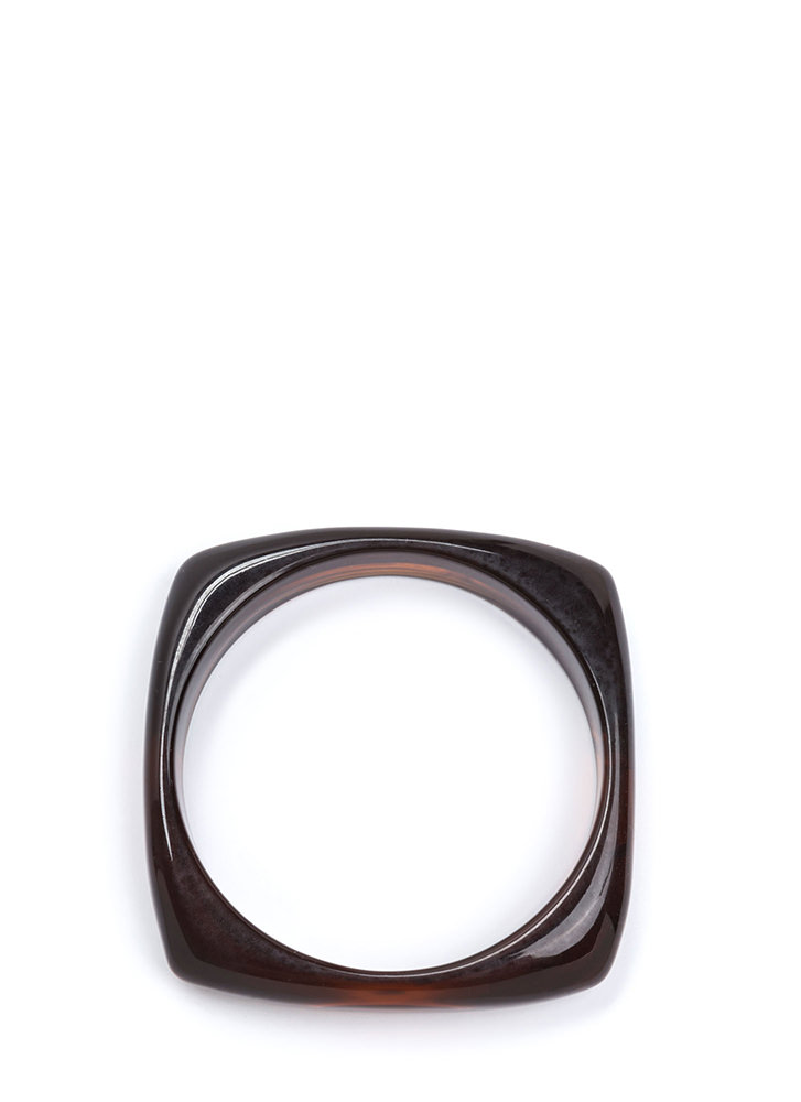 Everything's Squared Away Bangle BROWN (Final Sale)