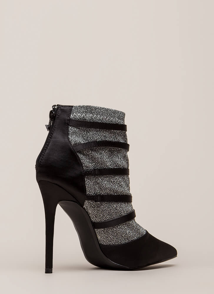 Layer It Down Pointy Caged Heels BLACK