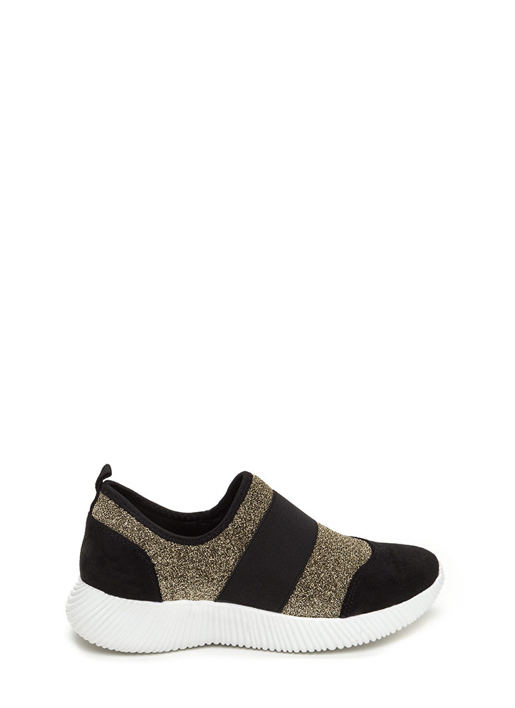 I've Been Band Metallic Slip-On Sneakers GOLD
