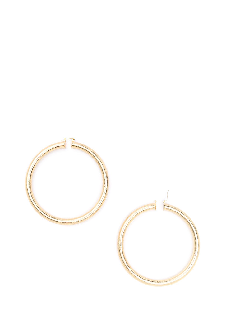 Shoot Some Hoops Oversized Earrings GOLD