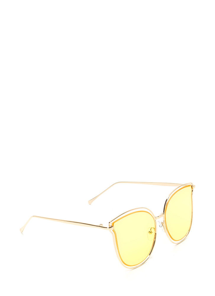 Fashionista Approved Tinted Sunglasses YELLOW