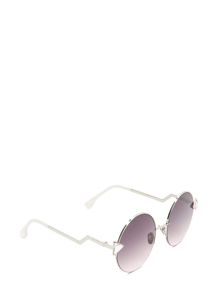 Shape Up Round Sunglasses CLEAR