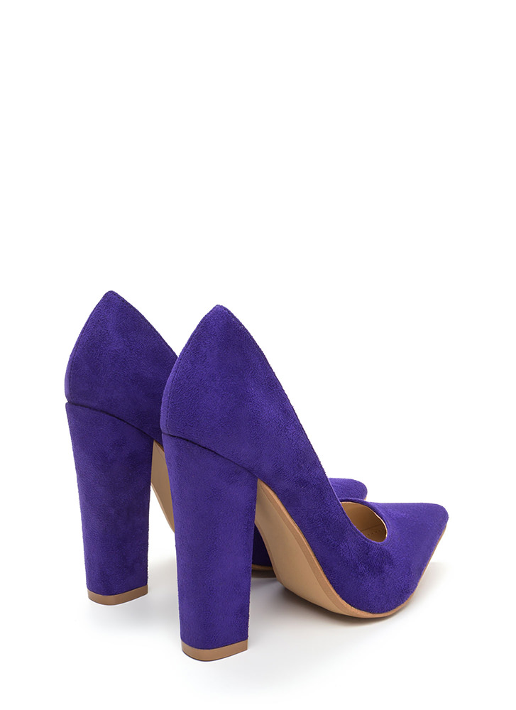Versatile Pick Pointy Chunky Heels VIOLET