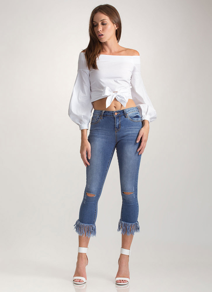 Magic Moment Off-Shoulder Top WHITE