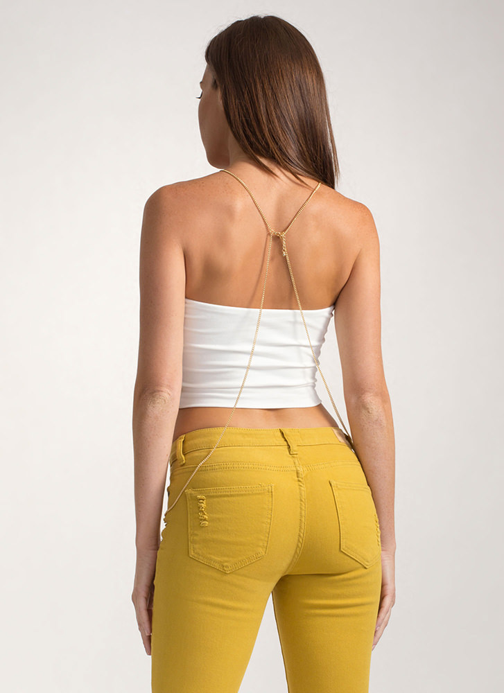 Infinite Possibilities Cropped Tube Top IVORY