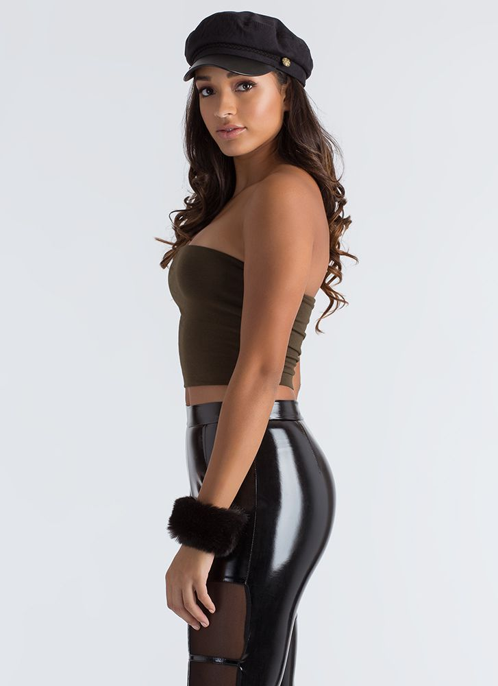 Infinite Possibilities Cropped Tube Top OLIVE