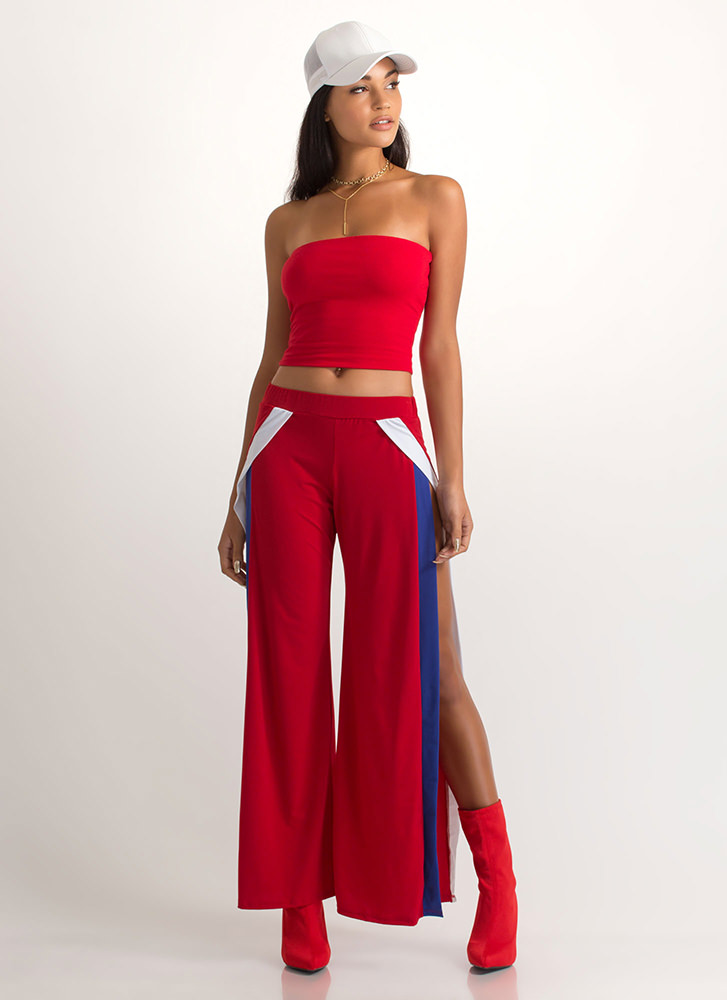 Infinite Possibilities Cropped Tube Top RED