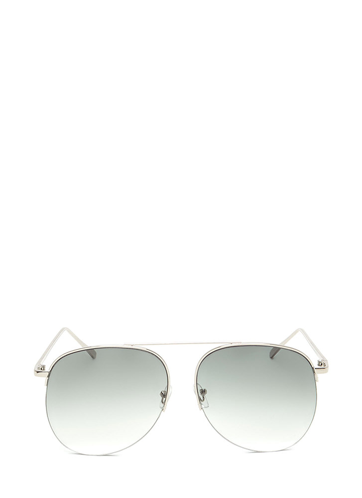Look To The Future Aviator Sunglasses OLIVE