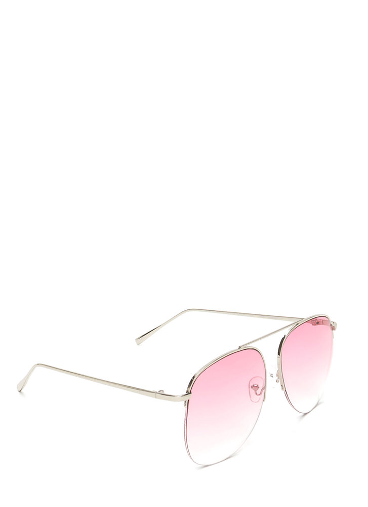 Look To The Future Aviator Sunglasses PINK