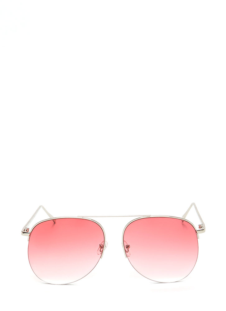 Look To The Future Aviator Sunglasses RED