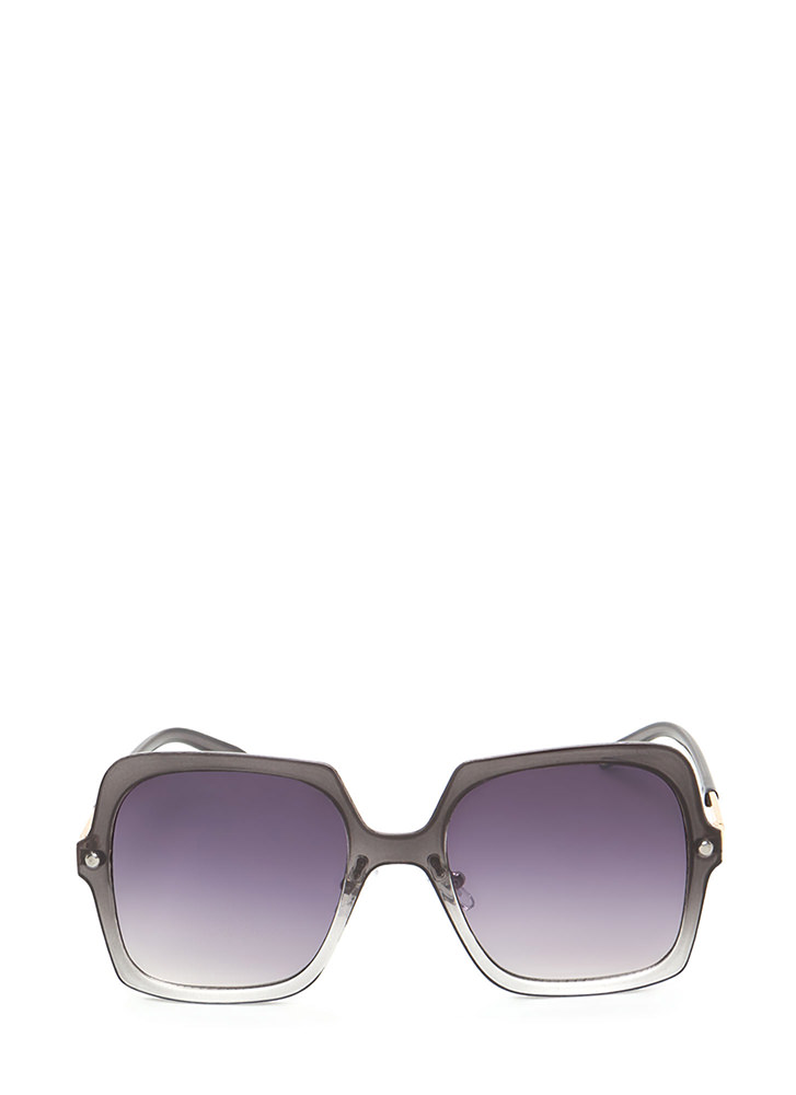 Pool Day Square Sunglasses GREY