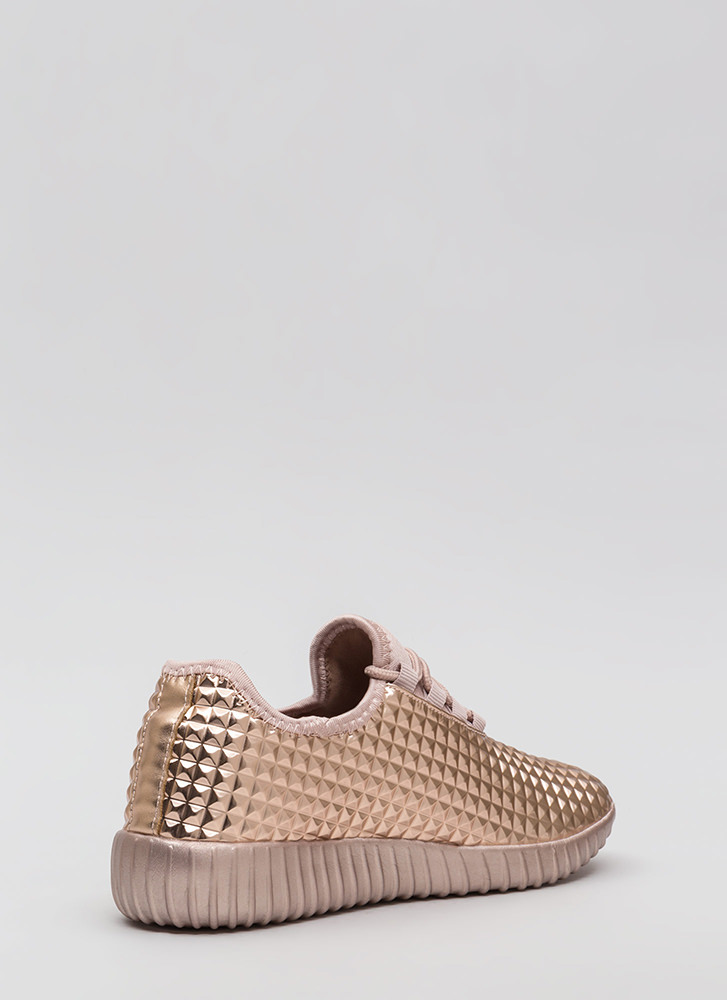 Pyramid Trek Metallic Sneakers ROSEGOLD