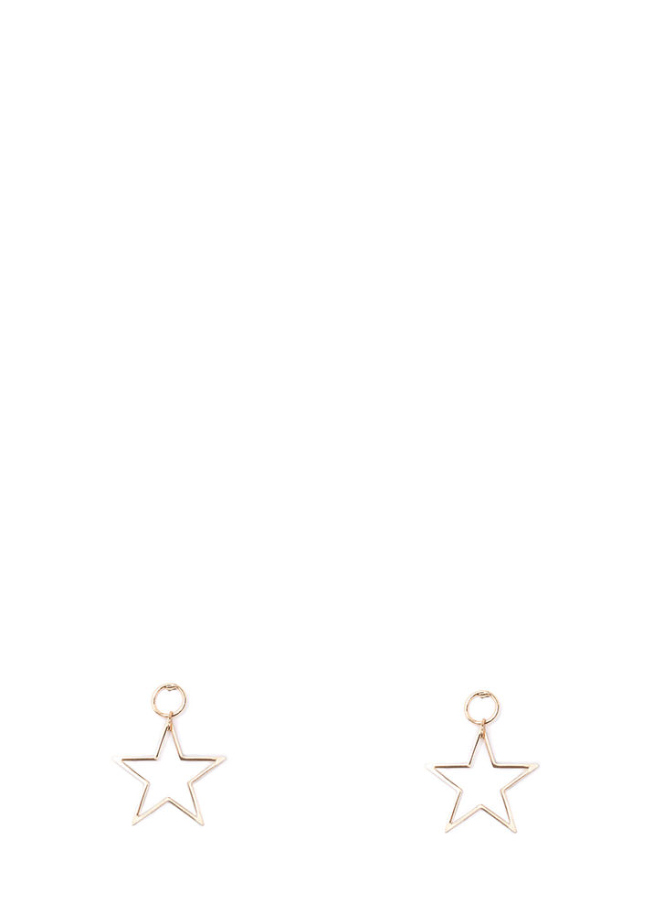 You're A Star Cut-Out Earrings GOLD