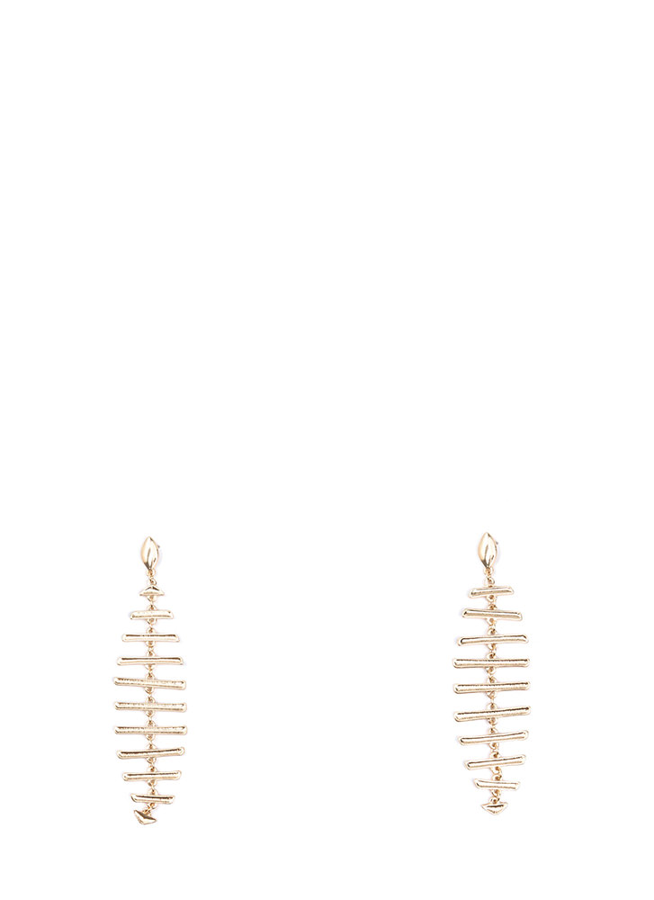 Raise The Bars Stacked Earrings GOLD (You Saved $7)