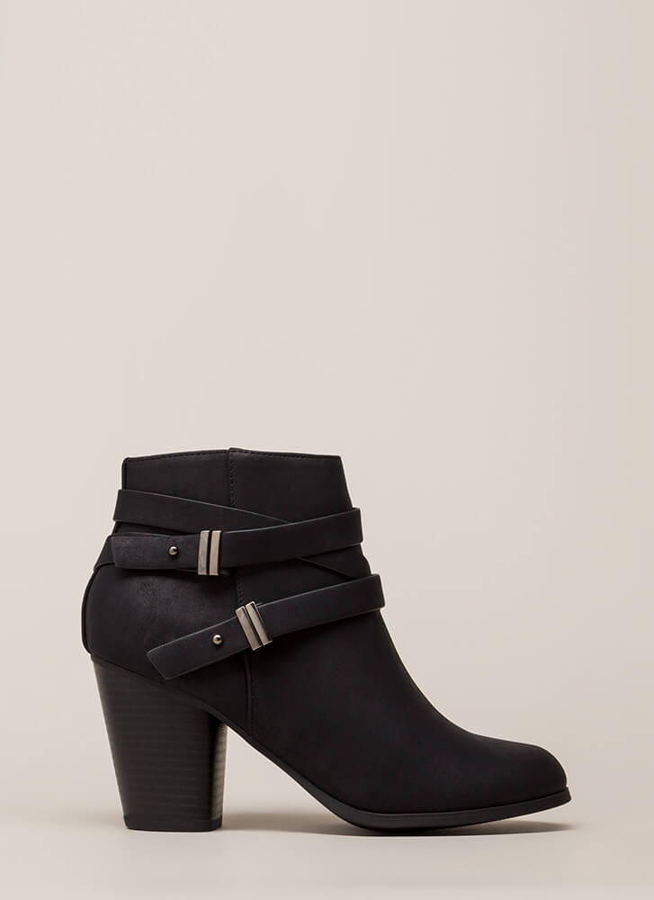 Wrapped Around The Block Chunky Boots BLACK
