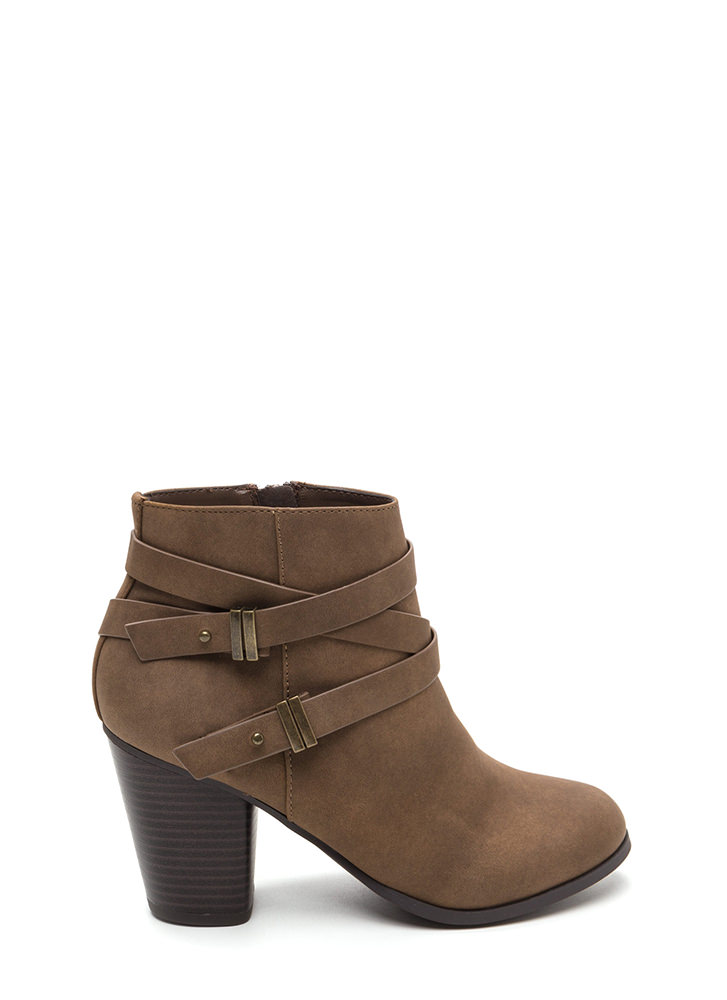 Wrapped Around The Block Chunky Boots LTBROWN