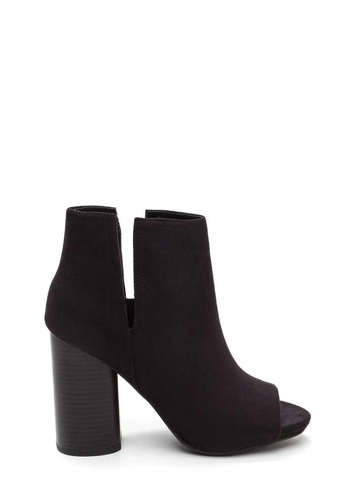 Slits For The Best Chunky Booties BLACK
