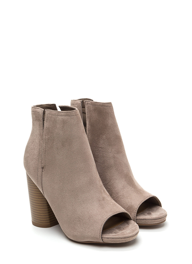 Slits For The Best Chunky Booties CLAY