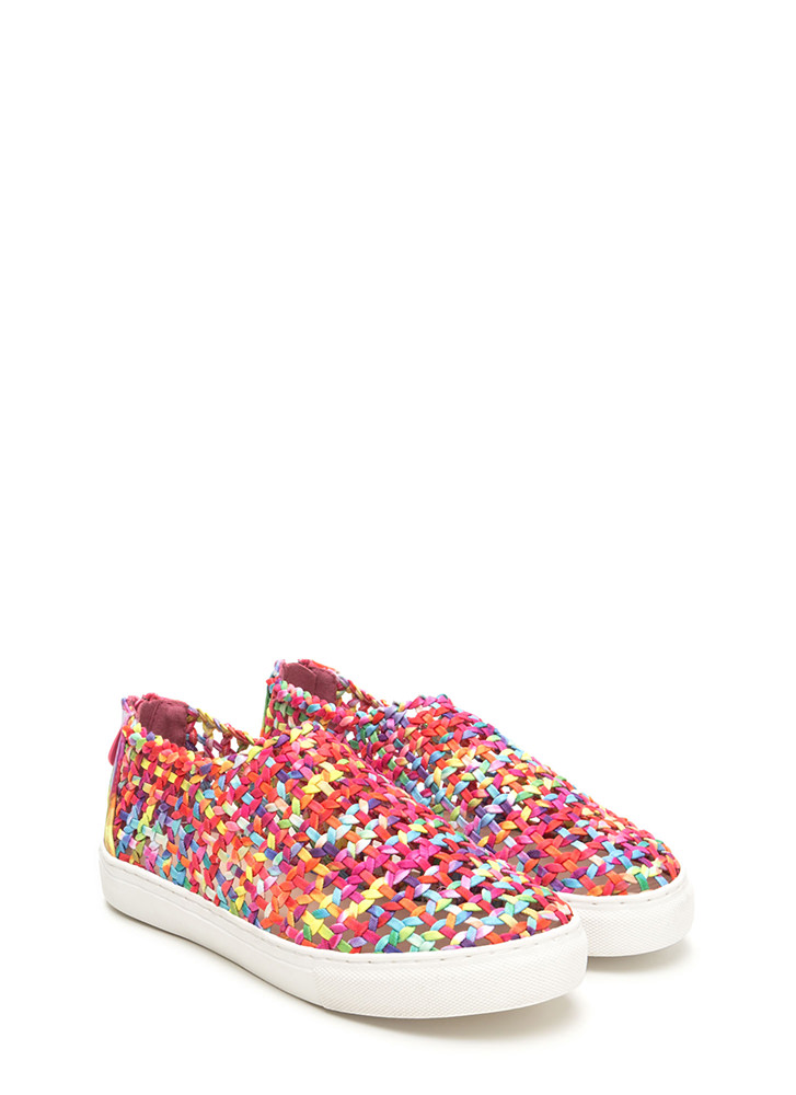 Weave A Message Rainbow Sneakers MULTI